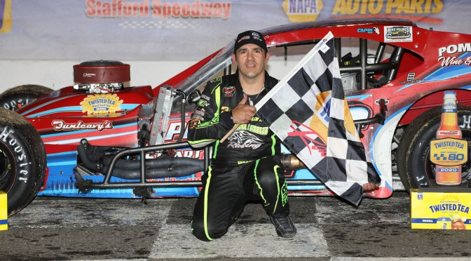Woody Pitkat Wins Twisted Tea Open Modified 80 At Stafford Speedway