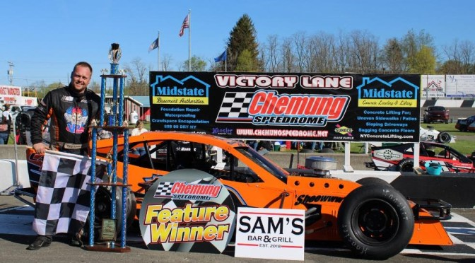 """""""Daryl Lewis, Jr. Gets It Done at the 'Drome, Picks Up Big Chemung Sportsman Modified Win"""""""
