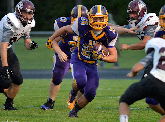 Elkhorn's Keenan Leahy is among the conference's rushing leaders. (Dave Baker/Elkhorn Independent)
