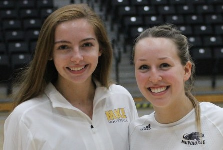 Abby Koenen, a 2018 Burlington High School graduate, and Union Grove graduate Kylie Wilks have been part a resurgent University of Wisconsin-Milwaukee women's volleyball team this season.