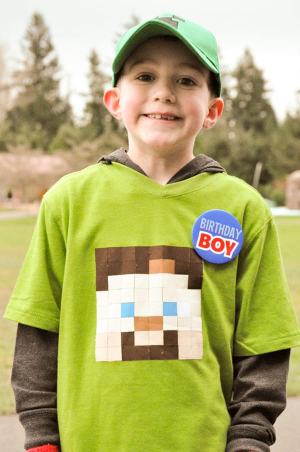 Minecraft Birthday Party Birthday Boy