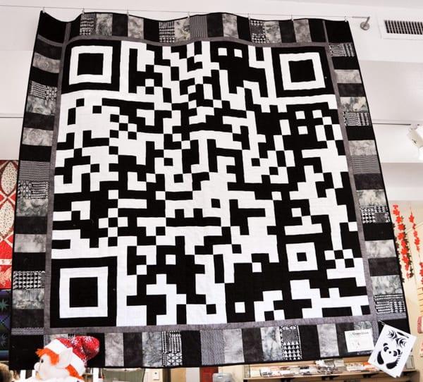 QR Code Quilt Front