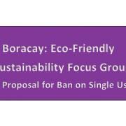Boracay Eco & Sustainability Focus Group 2018