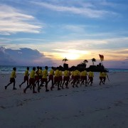 Boracay Lifeguards training at sunset