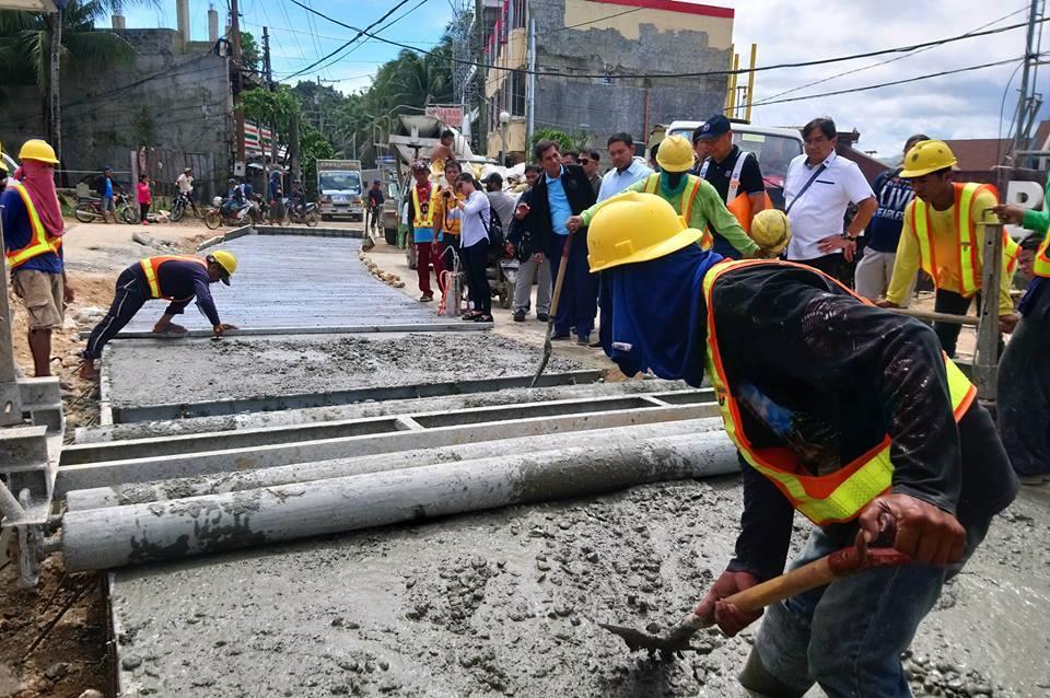 Cagban Port Road Laying: Photo Boracay Informer