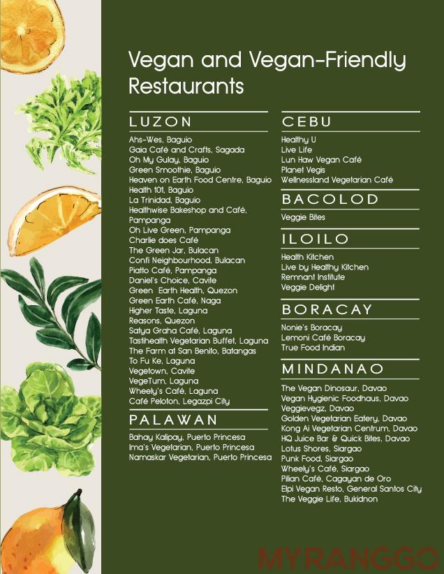 Vegan Restaurants in the Philippines
