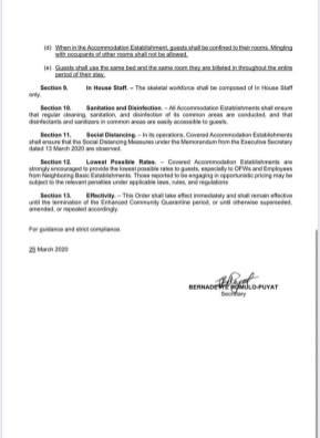 administrative order 2020 001 biv