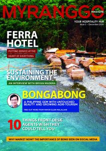 Magazine cover featuring Bongabong coastline in the Philippines My Ranggo Magazine