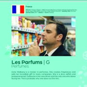 Poster giving synopsis for the European film Les Parfums (Perfumes) an entry in the Cine Europa 24 Film Festival