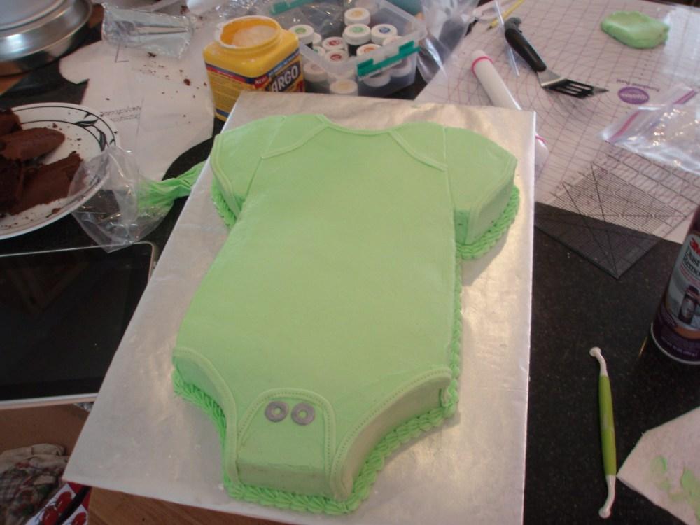 Sweet Pea Baby Shower Cake (3/6)