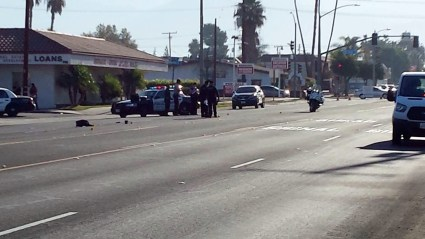 Numerous officers responded to the fatal accident scene. Gary Rainwater photo