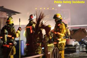 No firefighters were injured while battling the blaze. Robert Carter photo