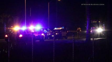Sheriff's officials discuss the death investigation. John Strangis photo