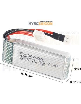 Pin 2s 400mah HJ R / C 511 / 511V Code 502050