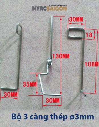 Bộ 3 càng đáp 3mm