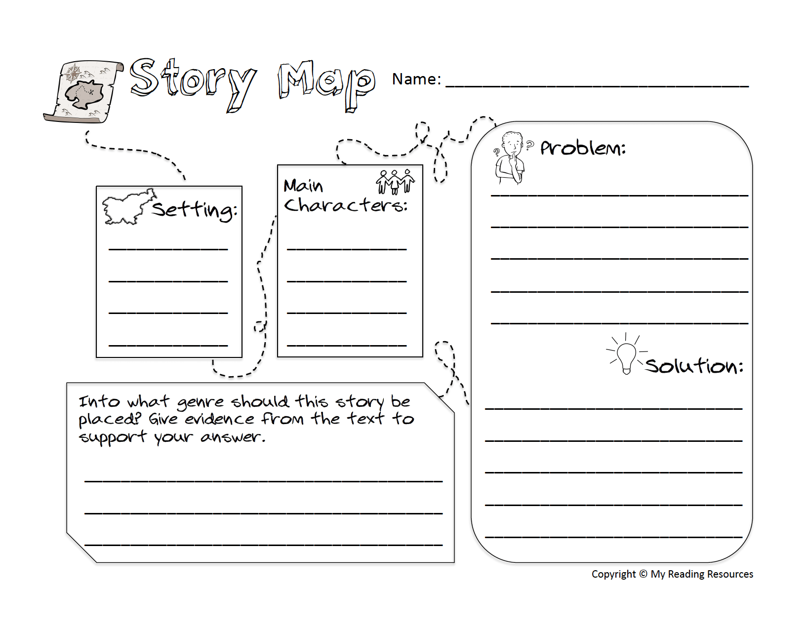 Back To School Sale Story Mapping Freebie My Reading