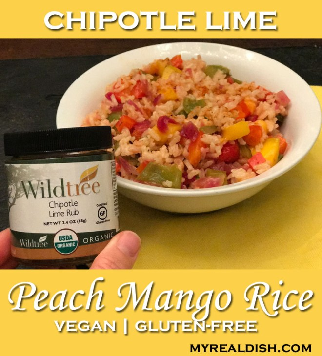 chipotle lime peach mango rice