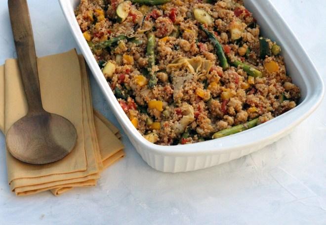 asparagus quinoa half dish