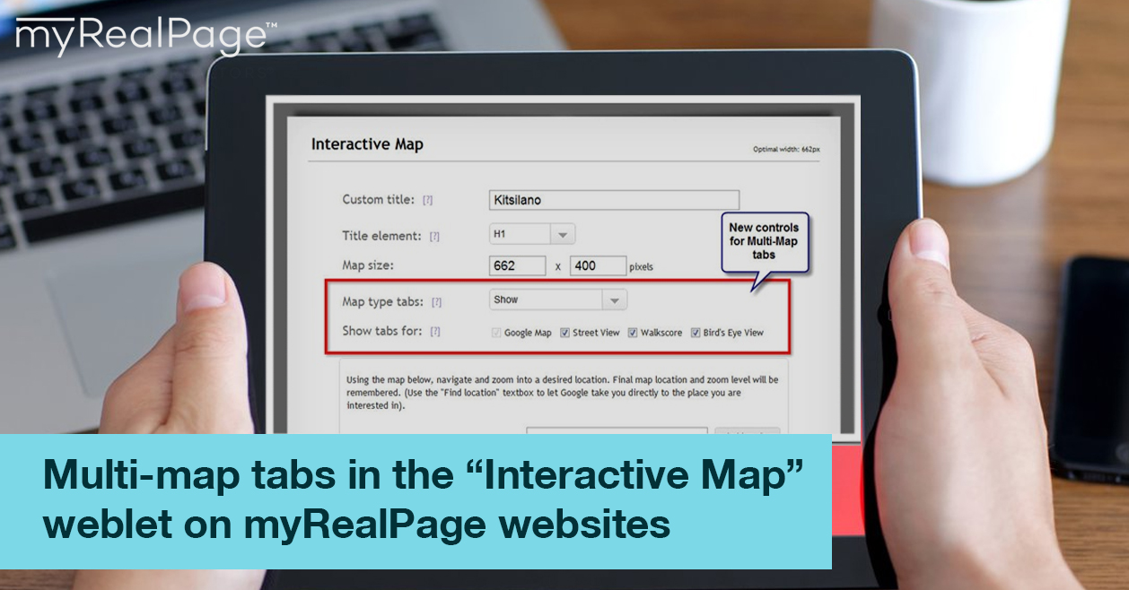 Multi map tabs in the    Interactive Map    weblet on myRealPage     Multi map tabs in the    Interactive Map    weblet on myRealPage websites