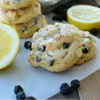 Lemon Blueberry Cookies with Lemon Poppy Seed Glaze