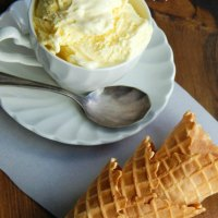 Homemade  French Vanilla Ice Cream