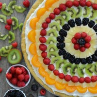 Easy Classic Fruit Pizza