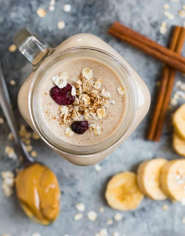 Creamy Oatmeal Smoothie With Banana