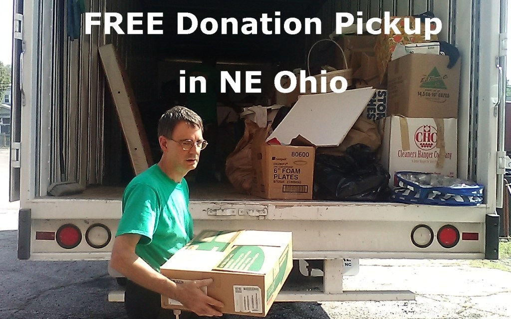We pick up household donations for FREE in NE Ohio. Contact us for details.