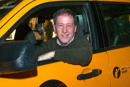 Lomg time NY City Cabby and author, Gene Salomon, Columbus Circle, NY