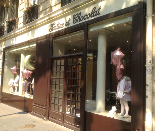 The Tartine et Chocolat boutique on St-Germain is a temple of luxury for babies and children, but in a city so rich with luxury goods, I found it uninspiring.