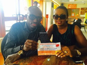 Mr & Mrs Balogun Receives their Meal voucher