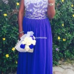 Pretty Bride flaunts her ring
