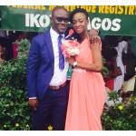 Groom stylishly shows off his ring
