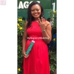 Bride happily flaunts her ring