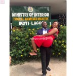 Whoa! See the Groom's smile , he is extremely happy as he has found the bone of his bone