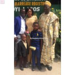 Couple with Bride's Dad