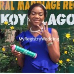 Bride flaunts her ring