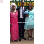 Couple with Bride's mum
