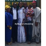 Couple with groom's mum , bride's dad and brother