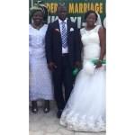Couple with groom's mum