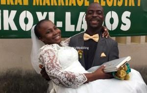 Olaoluwa marries her sweetheart Olajide Ososanya on the 14th of July 2016.