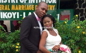 Gbemisola say I do to Patrick on the 16th of July 2016.