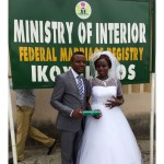 Bride flaunts her wedding ring as she also shows off her marriage certificate along with the Groom