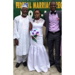 Couple with Groom's dad