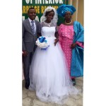 Couple with Bride's mum
