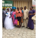 Couple with Bride's relatives