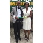Couple shows off their marriage certificate, whoa! They look cute