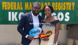 Pretty Aramide and handsome Olumide Olawale legalize their union on the 30th of June 2016. Wishing the couple unending joy and happiness in their marriage.