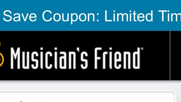 Get Veteran day coupon at musician's friend website
