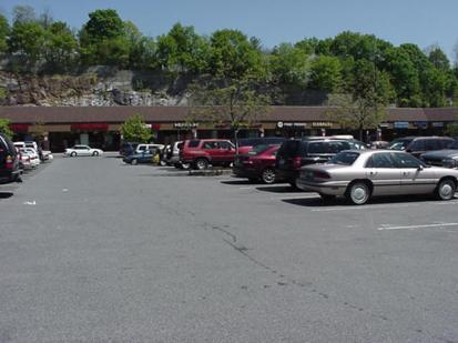 View toward stores